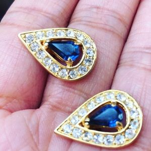 Hollywood Sapphire 925 with Gold & Diamond Earring